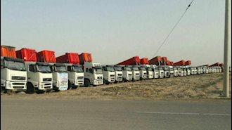 اعتصاب کامیونداران - شیراز