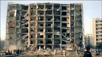 ساختمان خبر در عربستان بعد از  انفجار
