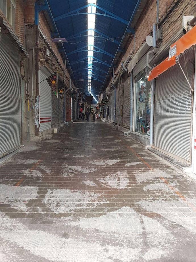 اعتصاب بازاریان در سراب اردبیل ۱۷مهر۹۷