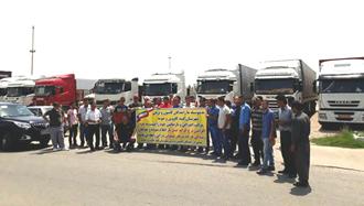 اعتصاب سراسری کامیونداران - گنبد کاووس