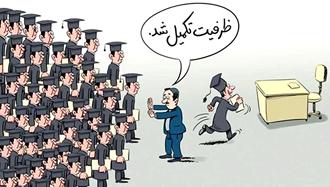 بیکاری فارغالتحصیلان