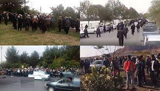 اعتراض و اعتصاب کارگران و کشاورزان در شهرهای میهن