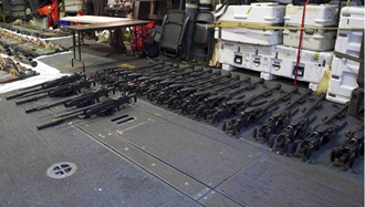 تسلیحات ایرانی  مصادره شده توسط کشتی آمریکایی یو اس اس سیروکو