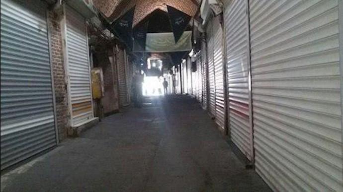 اعتصاب بازاریان در بازار کفش تبریز ۱۷مهر۹۷