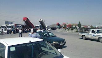اعتصاب رانندگان کامیون در ملایر