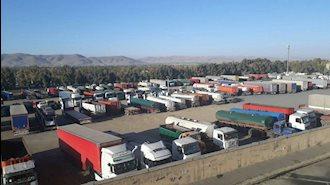 ملایر.اعتصاب کامیونداران