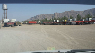 مبارکه.پایانه.اعتصاب کامیونداران