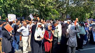 تجمع اعتراضی غارت شدگان  کاسپین  در  تهران -۲۲ آبان۹۷