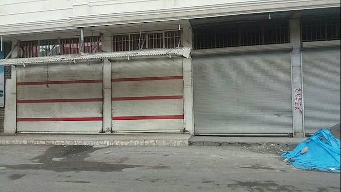 اعتصاب بازاریان رودسر - ۱۵آبان ۹۷