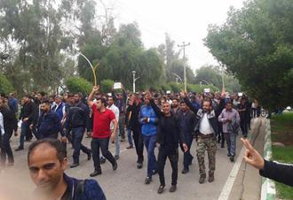 اعتراض و تظاهرات کارگران نیشکر هفتتپه