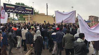 تظاهرات کارگران نیشکر هفت  تپه  در  شهر شوش - ۲۴ آبان۹۷