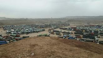 قصرشیرین - اعتصاب رانندگان  کامیون ۱۳آبان۹۷