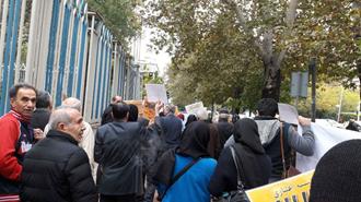 تجمع اعتراضی غارت شدگان کاسپین در تهران ۲۲ آبان ۹۷