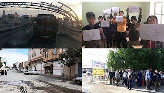 اعتصاب و اعتراض در شهرهای میهن