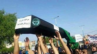 تشییع جنازه سمبلیک نیشکر  هفت تپه توسط کارگران  نیشکر در شوش -۲۵ آبان۹۷