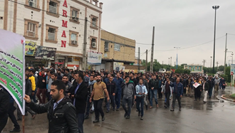 تظاهرات اعتراضی کارگران هفتتپه شوش - پنجشنبه ۲۴آبان ۹۷