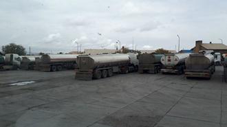 همدان.اعتصاب تانکرهای حمل سوخت- ۲۱ آبان ۹۷