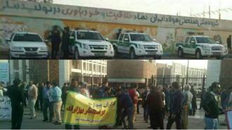 یازدهمین روز تظاهرات و اعتصاب کارگران  گروه  ملی فولاد اهواز