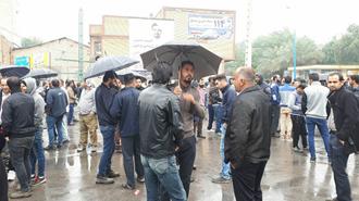 نوزدهمین روز اعتصاب کارگران نیشکر  هفت تپه مقابل  در میدان معلم نزدیک فرمانداری شوش - ۲آذر ۹۷