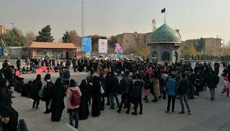 تجمع اعتراضی دانشجویان علامه  طباطبایی - عکس از آرشیو