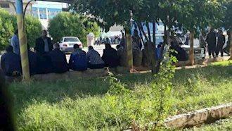 تجمع اعتراضی کارگران نیشکر هفت تپه -۱۹ آبان ۹۷