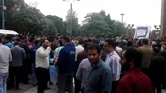 اعتصاب کارگران گروه ملی فولاد اهواز - عکس از آرشیو