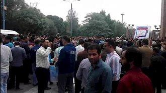 پنجمین روز اعتصاب کارگران گروه ملی فولاد اهواز - ۲۳آبان۹۷