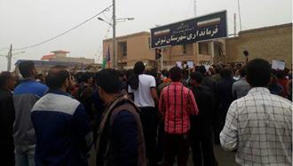 تظاهرات کارگران  نیشکر هفت تپه  مقابل فرمانداری  رژیم در  شوش