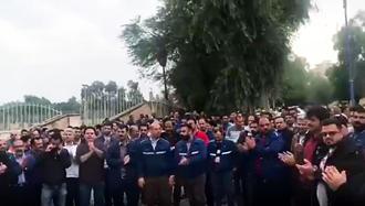 تجمع و تظاهرات کارگران فولاد اهواز