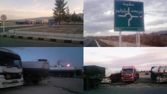 اعتصاب سراسری رانندگان کامیون برای هشتمین روز