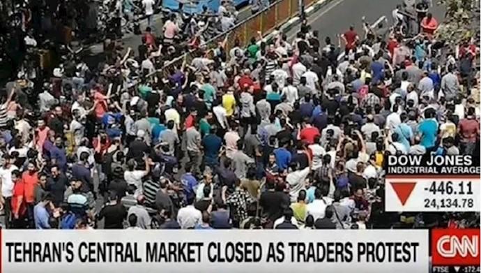 نقش بازار ـ انعکاس رسانههای بینالمللی از قیام بازار