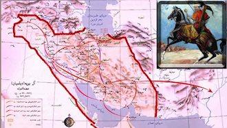 نقشه قلمرو آل بویه