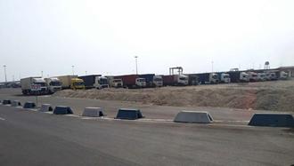 اعتصاب کامیونداران بندرعباس ۳دی ۹۷