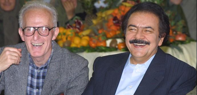 مجاهد خلق محمد سیدی کاشانی در کنار رهبر مقاومت مسعود رجوی
