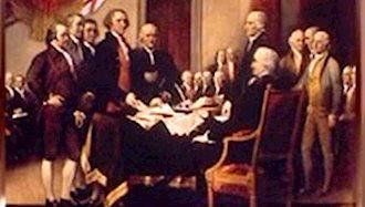 امضاء پیمان استقلال آمریکا