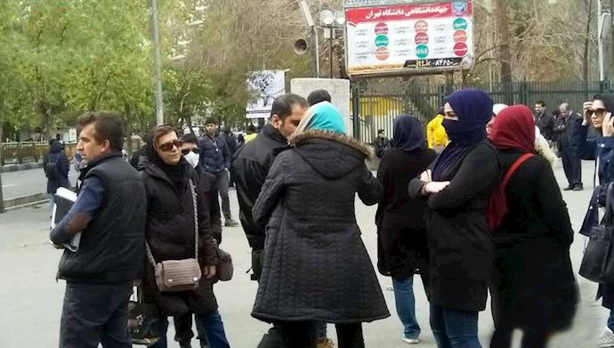 تجمع اعتراضی دانشجویان دانشگاه تهران بهمناسبت روز دانشجو ۱۷آذر