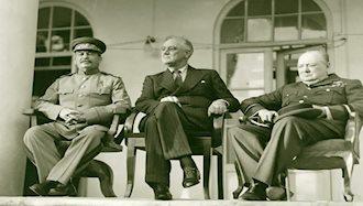 استالین، روزولت وچرچیل در کنفرانس تهران