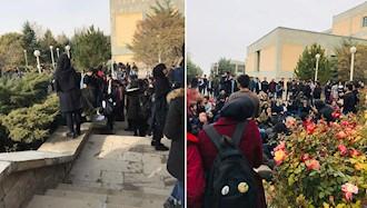 تجمع اعتراضی دانشجویان دانشگاه صنعتی سهند تبریز بهمناسبت روز دانشجو ۱۷آذر