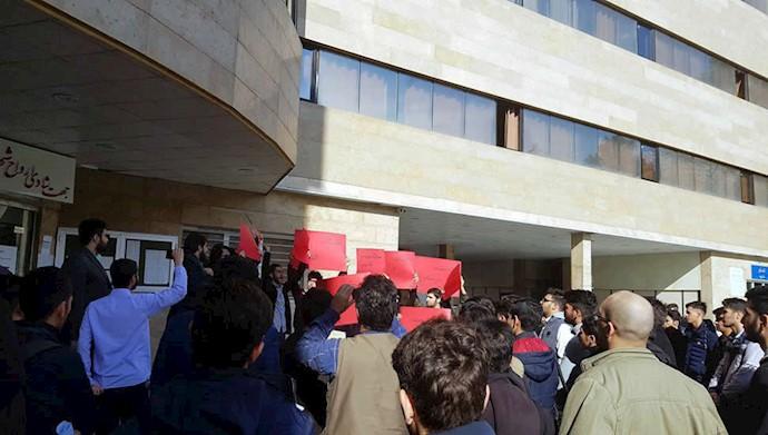 تجمع دانشجویان دانشکده فنی شمسیپور تهران بهمناسبت روز دانشجو ۱۷آذر