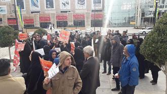تجمع غارت شدگان پدیده در مشهد ۴ دی ۹۷