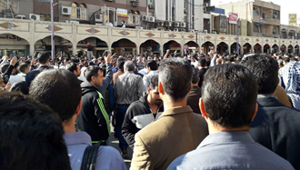 تظاهرات کارگران فولاد اهواز
