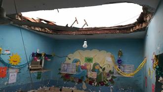 سقف مدرسه روستای زهوكی ميناب بر سر دانشآموزان فرو ریخت