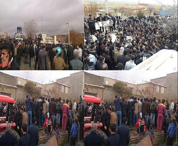 بیجار.ششمین روز اعتراضات در حسن آباد یاسوکند
