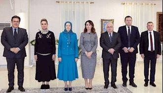 دیدار هیأت پارلمانترهای آلبانی با مریم رجوی