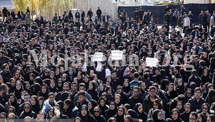 تجمع گرامیداشت دانشجویان جانباخته در حادثه اتوبوس