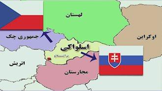 نقشه جمهوریهای چک و اسلوواکی