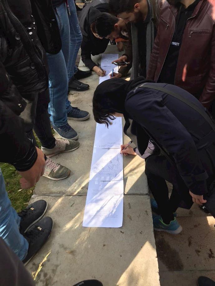 اعتصاب دانشجویان دانشگاه صنعتی سهند تبریز