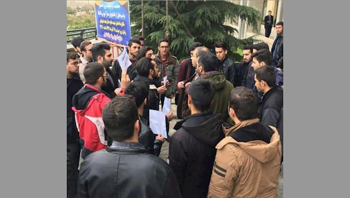 تجمع اعتراضی دانشجویان دانشگاه صنعتی سهند تبریزبهمناسبت روز دانشجو ۱۸آذر