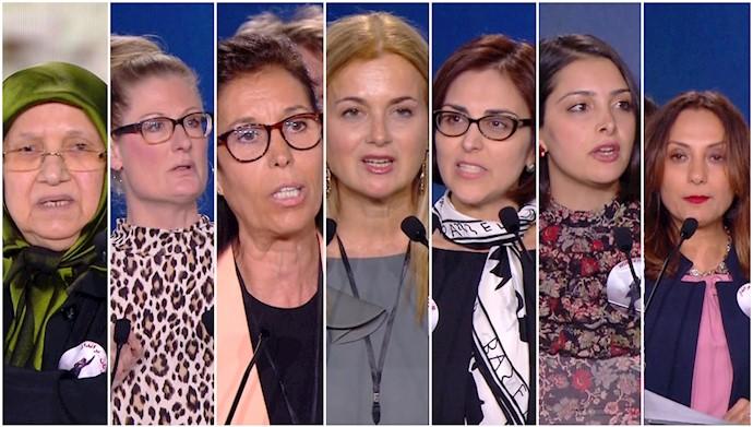 سخنرانیهای کنفرانس روز جهانی زن در پاریس