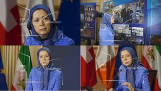 تصاویری از سخنرانی مریم رجوی در اجلاسی با شرکت پارلمانترهای اروپایی